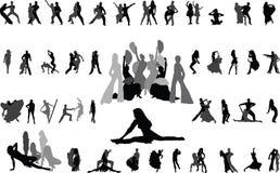 Het dansen Stock Afbeeldingen