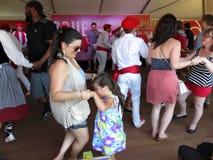 Het dansen aan Baskische Muziek Royalty-vrije Stock Afbeelding