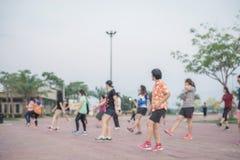 Het dansen aerobicsoefening Royalty-vrije Stock Fotografie