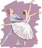 Het dansen ballet Stock Foto