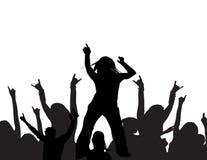 Het dansen bij een partij Stock Foto