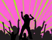 Het dansen bij een partij Stock Foto's