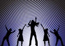 Het dansen bij een partij vector illustratie