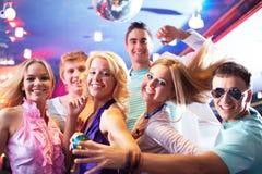 Het dansen bij partij Stock Afbeelding