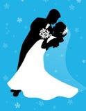 Het dansen bruide en bruidegom Stock Foto
