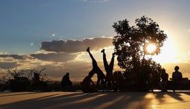 Het dansen capoeira royalty-vrije stock afbeelding