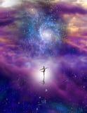 Het dansen cijfer in kosmische ruimte