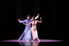 Het dansen in de maanlicht-tweede handeling van de gebeurtenissen van dans drama-Shawan van het verleden Stock Afbeelding