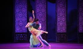 Het dansen in de maanlicht-tweede handeling van de gebeurtenissen van dans drama-Shawan van het verleden Stock Foto