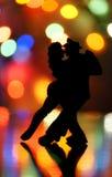 Het dansen in de nacht Stock Foto