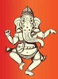 Het dansen Ganesh Royalty-vrije Illustratie