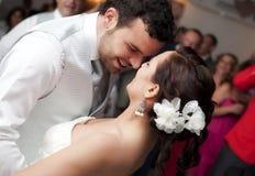 Het dansen in hun huwelijk Royalty-vrije Stock Foto