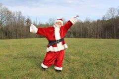 Het dansen Kerstman Stock Afbeeldingen