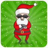 Het dansen Kerstman Royalty-vrije Stock Afbeelding