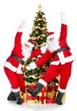 Het dansen Kerstman Royalty-vrije Stock Foto's