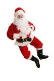 Het dansen Kerstman In de lucht Royalty-vrije Stock Foto