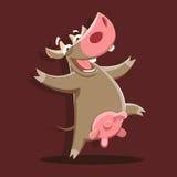 Het dansen koe Stock Foto's