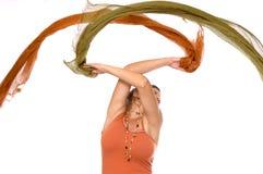 Het dansen met kleur Stock Foto's