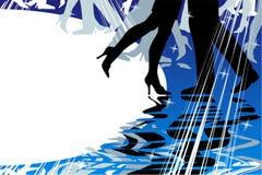 Het dansen of muziekachtergrond Stock Fotografie
