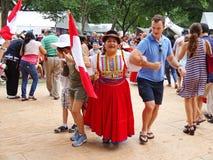 Het dansen op het Stadium Royalty-vrije Stock Fotografie