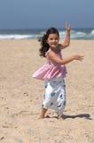 Het dansen op het strand Royalty-vrije Stock Foto