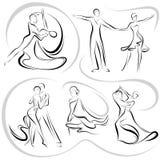 Het dansen paar royalty-vrije illustratie