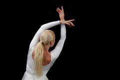 Het dansen van de ballerina Stock Foto's