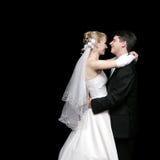 Het dansen van de bruid en van de bruidegom royalty-vrije stock foto