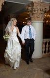 Het dansen van de bruidegom en van de bruid Stock Afbeelding