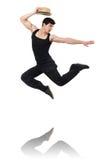 Het dansen van de danser geïsoleerded dansen Stock Afbeeldingen