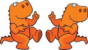 Het Dansen van de dinosaurus Stock Foto