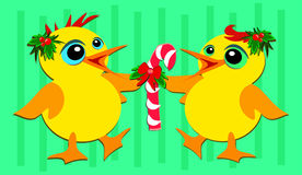 Het Dansen van de Eenden van Kerstmis royalty-vrije illustratie