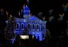 Het Dansen van de Familie van Osborne van Disneyworld Lichten 2 Stock Afbeelding