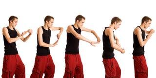 Het Dansen van de jonge Mens Royalty-vrije Stock Foto's