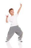 Het dansen van de jongen stock afbeelding