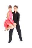Het dansen van de jongen en van het meisje balzaaldans Royalty-vrije Stock Fotografie
