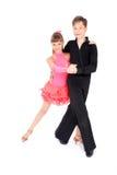 Het dansen van de jongen en van het meisje balzaaldans Royalty-vrije Stock Foto's