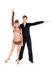 Het dansen van de jongen en van het meisje balzaaldans Stock Foto