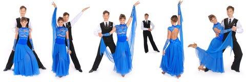 Het dansen van de jongen en van het meisje balzaaldans Royalty-vrije Stock Foto