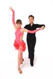 Het dansen van de jongen en van het meisje balzaaldans Royalty-vrije Stock Afbeeldingen