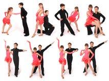 Het dansen van de jongen en van het meisje balzaaldans Stock Foto's