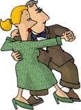 Het dansen van de man en van de vrouw Stock Afbeelding