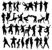 Het dansen van de menigte vector illustratie