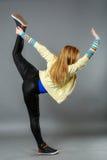Het dansen van de tiener heup-hop studioreeks Stock Foto