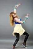 Het dansen van de tiener heup-hop studioreeks Stock Fotografie