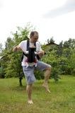Het dansen van de vader en van de baby Stock Afbeelding