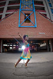 Het dansen van de vrouw Stock Afbeelding