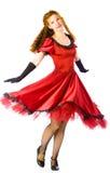 Het dansen van de vrouw Stock Fotografie