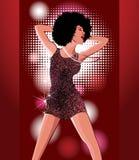 Het dansen van de vrouw Royalty-vrije Stock Afbeeldingen