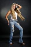Het dansen van de vrouw royalty-vrije stock foto